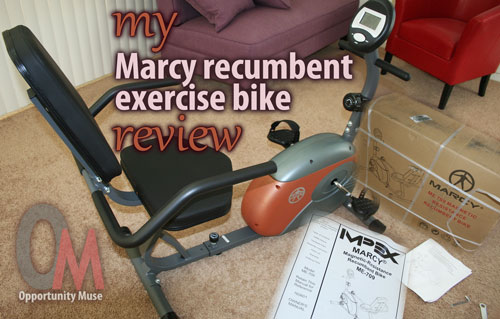 My Marcy recumbent exercise bike review