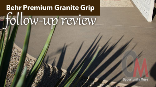 My Behr Premium Granite Grip follow-up review